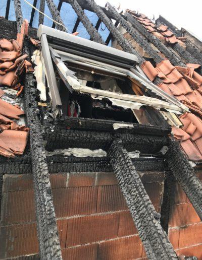 Brandschaden Dachstuhl